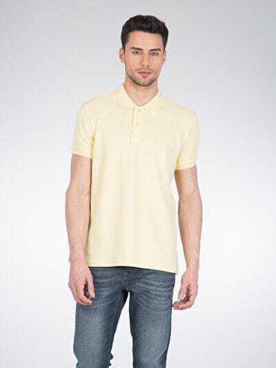COLINS желтый мужской футболки-поло к. рукав<br>Пол: мужской; Цвет: светло-желтый; Размер INT: M;