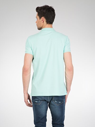 COLINS зеленый мужской футболки-поло к. рукав<br>Пол: мужской; Цвет: зеленая мята; Размер INT: XL;