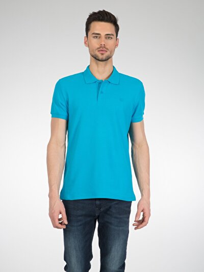 COLINS синий бирюзовый мужской футболки-поло к. рукав<br>Пол: мужской; Цвет: синий бирюзовый; Размер INT: XXL;