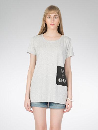 COLINS серый женский туники<br>Пол: женский; Цвет: смешанный серый; Размер INT: XS;