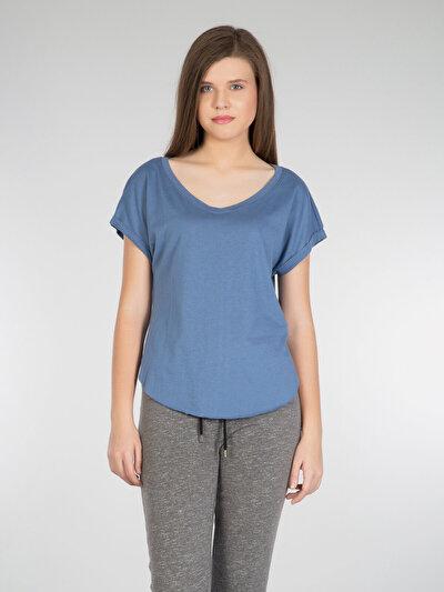 COLINS голубой <br>Пол: женский; Цвет: индиго; Размер INT: S;
