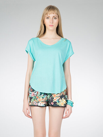 COLINS  женский футболки короткий рукав<br>Пол: женский; Цвет: turquo?se; Размер INT: S;