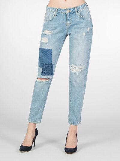 COLINS деним женский брюки<br>Пол: женский; Цвет: грэйвел уош; Размер INT: 26;