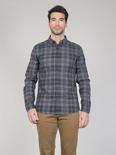 COLINS антрацит мужской рубашки длинний рукав<br>Пол: мужской; Цвет: антрацит; Размер INT: XXL;
