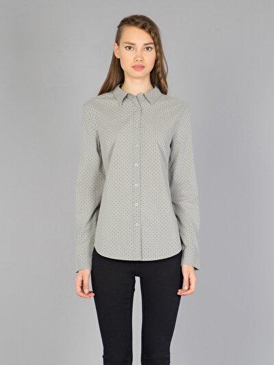 COLINS серый женский рубашки длинний рукав<br>Пол: женский; Цвет: светло-серый; Размер INT: M;