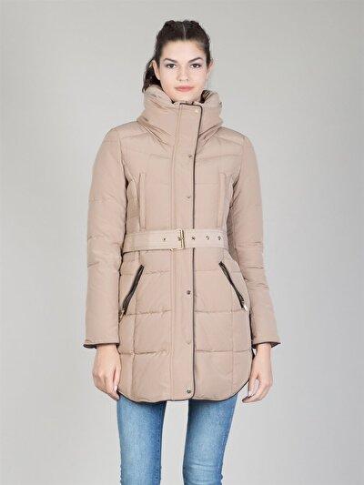 COLINS бежевый женский пальто<br>Пол: женский; Цвет: бежевый; Размер INT: XS;