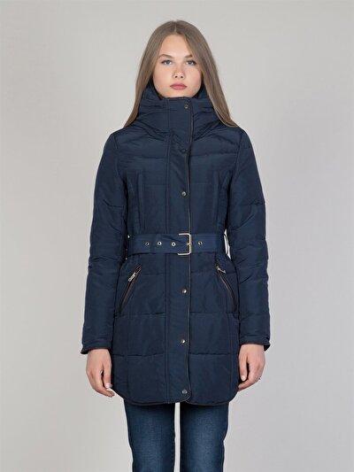 COLINS синий женский пальто<br>Пол: женский; Цвет: синий; Размер INT: XS;