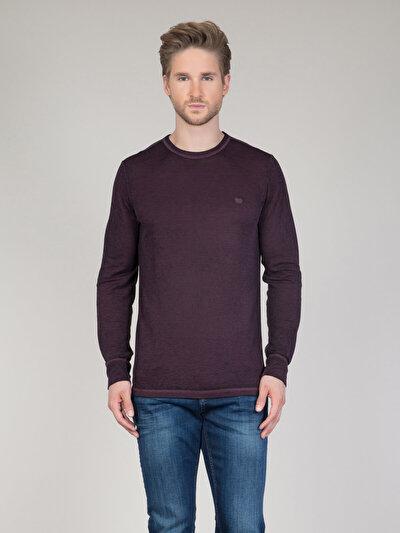 COLINS бордовый мужской футболки длинный рукав<br>Пол: мужской; Цвет: бордовый; Размер INT: XL;