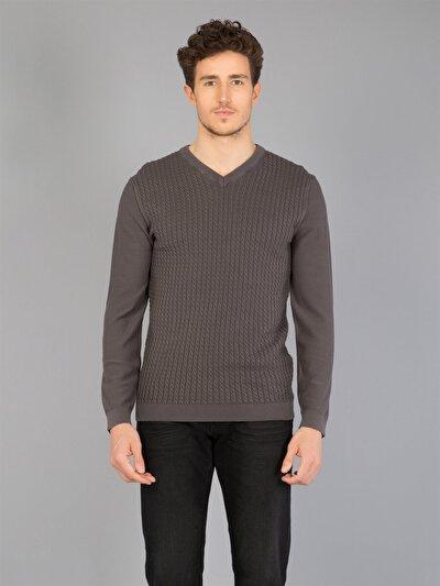 COLINS антрацит мужской свитеры<br>Пол: мужской; Цвет: антрацит; Размер INT: L;