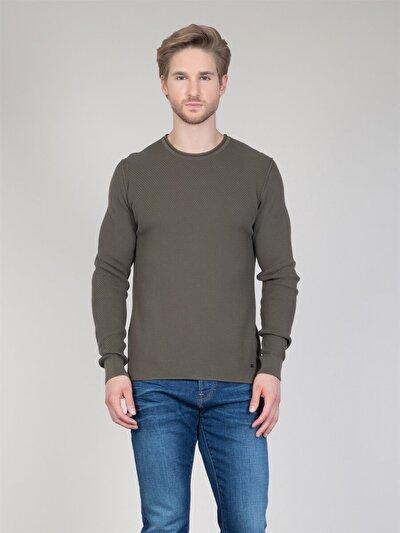 COLINS хаки мужской свитеры<br>Пол: мужской; Цвет: хаки; Размер INT: S;