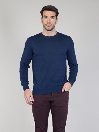COLINS синий мужской свитеры<br>Пол: мужской; Цвет: синий меланж; Размер INT: M;