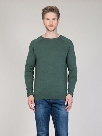 COLINS зеленый мужской свитеры<br>Пол: мужской; Цвет: смешанный зеленый; Размер INT: XL;