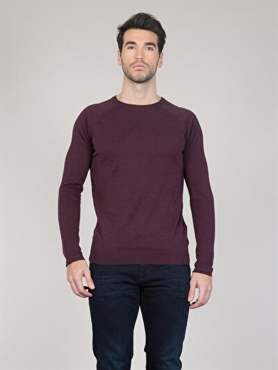 COLINS бордовый мужской свитеры<br>Пол: мужской; Цвет: бордовый меланж; Размер INT: XXL;