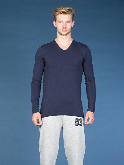 COLINS синий мужской футболки длинный рукав<br>Пол: мужской; Цвет: синий; Размер INT: S;