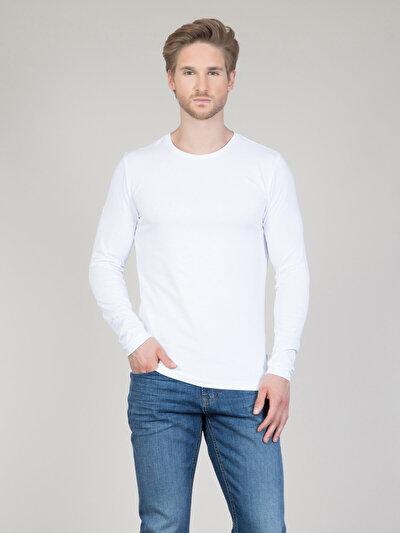COLINS белый мужской футболки длинный рукав<br>Пол: мужской; Цвет: белый; Размер INT: XXL;