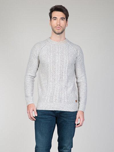 COLINS  мужской свитеры<br>Пол: мужской; Цвет: бежевый меланж; Размер INT: L;