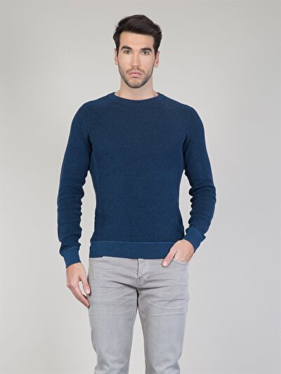 COLINS синий мужской свитеры<br>Пол: мужской; Цвет: синий; Размер INT: M;