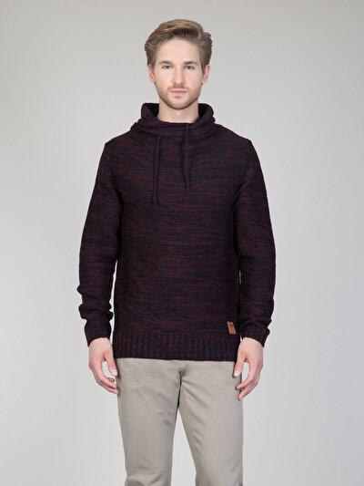 COLINS бордовый мужской свитеры<br>Пол: мужской; Цвет: бордовый; Размер INT: M;