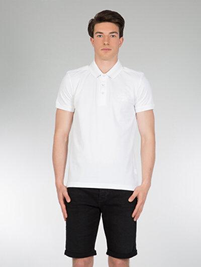 COLINS белый мужской футболки-поло к. рукав<br>Пол: мужской; Цвет: белый; Размер INT: M;
