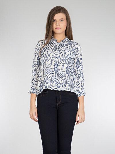 COLINS белый женский рубашки длинний рукав<br>Пол: женский; Цвет: белый; Размер INT: S;
