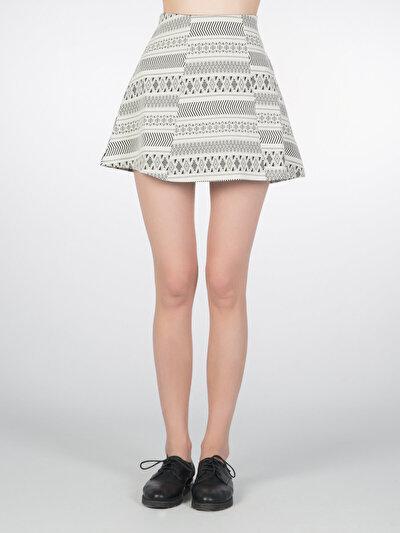 COLINS белый женский юбки<br>Пол: женский; Цвет: белый; Размер INT: XS;