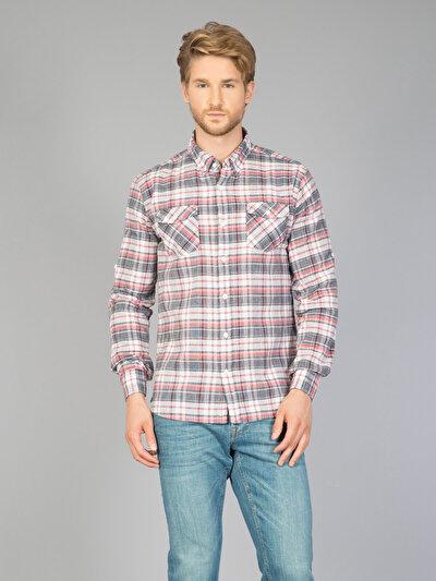 COLINS серый мужской рубашки длинний рукав<br>Пол: мужской; Цвет: серый; Размер INT: XL;