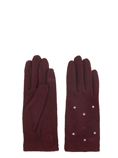 COLINS  женский перчатки<br>Пол: женский; Цвет: бурганди; Размер INT: XS/S;