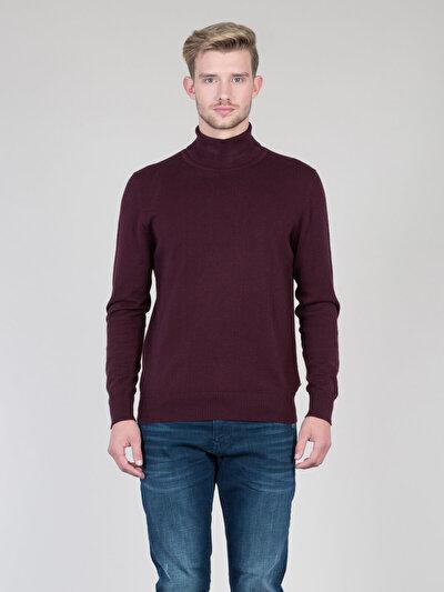 COLINS бордовый мужской свитеры<br>Пол: мужской; Цвет: бордовый меланж; Размер INT: XL;