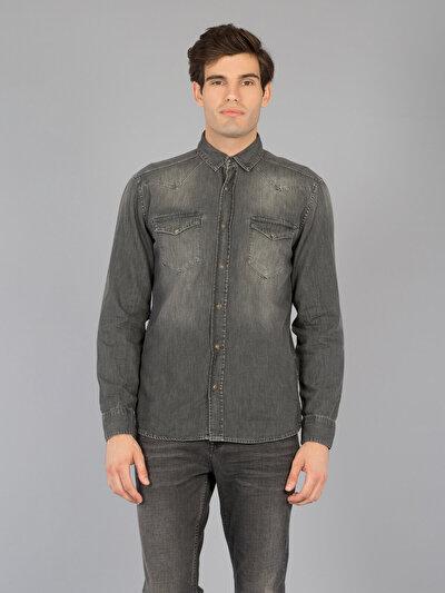 COLINS  мужской рубашки длинний рукав<br>Пол: мужской; Цвет: реал мытье; Размер INT: S;