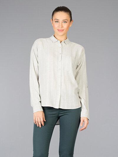 COLINS серый женский рубашки длинний рукав<br>Пол: женский; Цвет: серый; Размер INT: M;