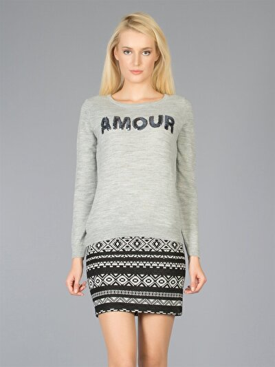 COLINS серый женский свитеры<br>Пол: женский; Цвет: смешанный серый; Размер INT: M;