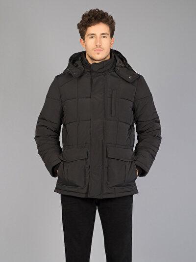 COLINS черный мужской пальто<br>Пол: мужской; Цвет: черный; Размер INT: L;