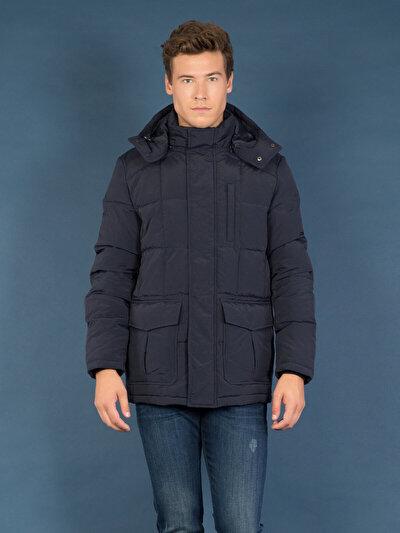 COLINS синий мужской пальто<br>Пол: мужской; Цвет: синий; Размер INT: XL;