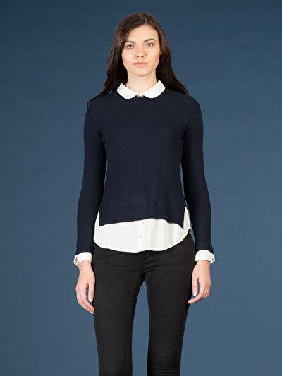 COLINS синий женский свитеры<br>Пол: женский; Цвет: синий; Размер INT: L;
