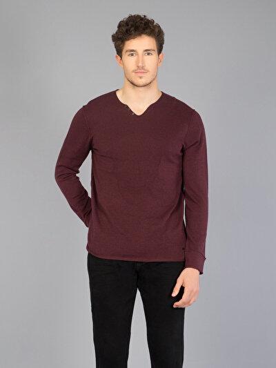 COLINS бордовый мужской свитеры<br>Пол: мужской; Цвет: бордовый меланж; Размер INT: M;