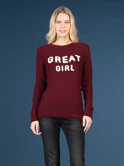 COLINS бордовый женский свитеры<br>Пол: женский; Цвет: бордовый; Размер INT: S;