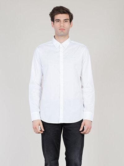 COLINS белый мужской рубашки длинний рукав<br>Пол: мужской; Цвет: белый; Размер INT: L;