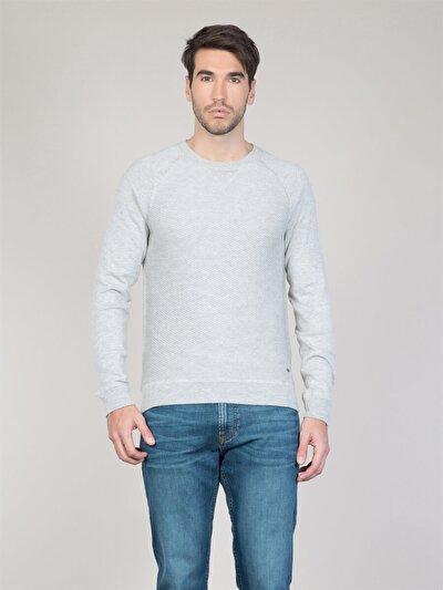 COLINS серый мужской свитеры<br>Пол: мужской; Цвет: светло серый меланг; Размер INT: XL;