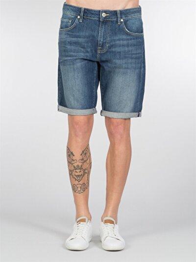 COLINS деним мужской шорты<br>Пол: мужской; Цвет: уиксон уош; Размер INT: XL;