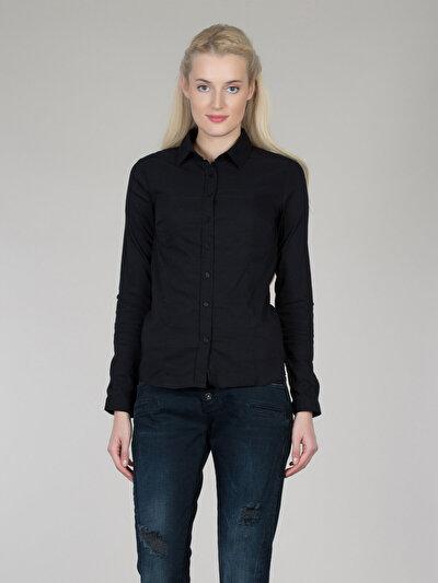 COLINS черный женский рубашки длинний рукав<br>Пол: женский; Цвет: черный; Размер INT: L;