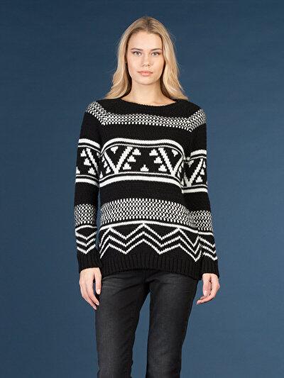 COLINS черный женский свитеры<br>Пол: женский; Цвет: черный; Размер INT: S;