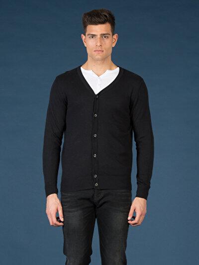 COLINS черный мужской кардиганы<br>Пол: мужской; Цвет: черный; Размер INT: XXL;