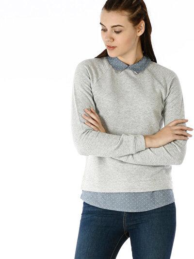 COLINS серый женский толстовки<br>Пол: женский; Цвет: смешанный серый; Размер INT: XS;