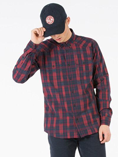 COLINS красный мужской рубашки длинний рукав<br>Пол: мужской; Цвет: красный; Размер INT: XL;