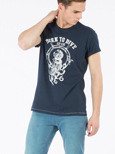 COLINS синий мужской футболки короткий рукав<br>Пол: мужской; Цвет: синий; Размер INT: M;