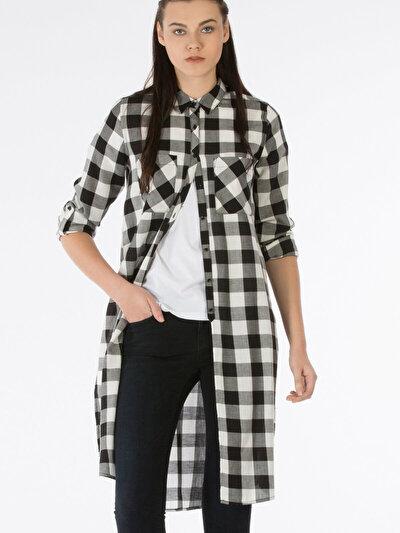 COLINS черный женский рубашки длинний рукав<br>Пол: женский; Цвет: черный; Размер INT: M;