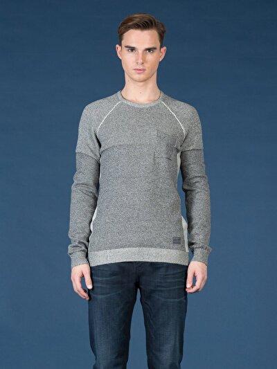 COLINS серый мужской свитеры<br>Пол: мужской; Цвет: смешанный серый; Размер INT: XL;