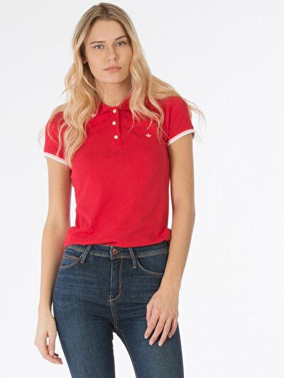 COLINS красный женский футболки короткий рукав<br>Пол: женский; Цвет: красный; Размер INT: L;