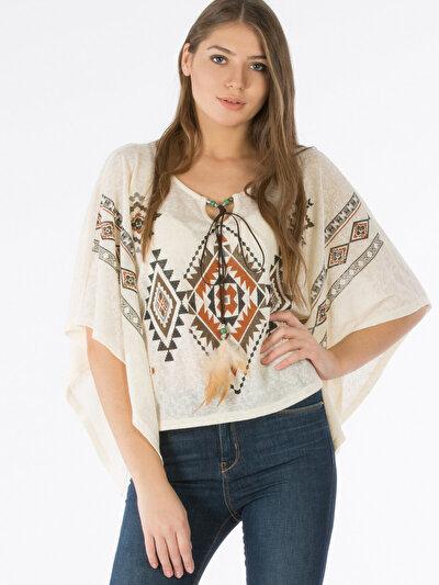 COLINS бежевый женский футболки длинный рукав<br>Пол: женский; Цвет: бежевый; Размер INT: M/L;