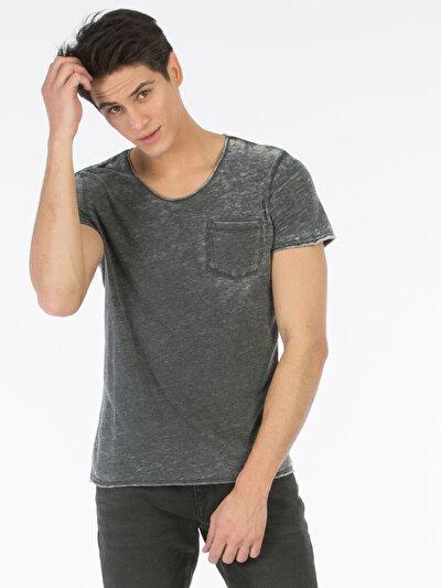 COLINS антрацит мужской футболки короткий рукав<br>Пол: мужской; Цвет: смешанный антрацит; Размер INT: XL;